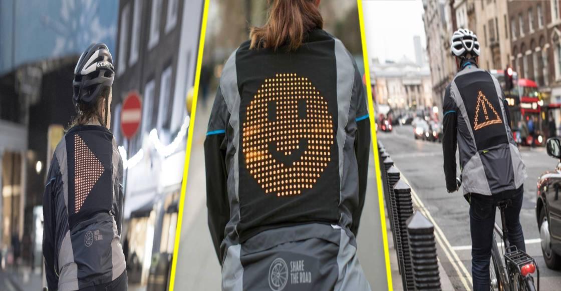 Emoji Jacket: La chamarra que incrementa la seguridad de los bikers