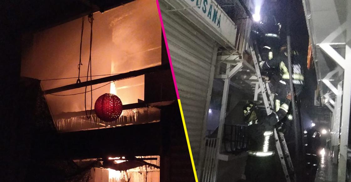 ¿Otro? Incendio en Mercado Granaditas, en Tepito, deja tres locales dañados