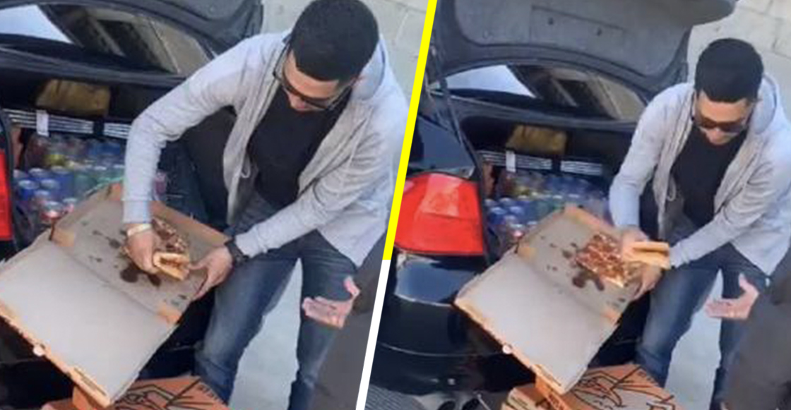 Esto también es México: Joven regala pizzas a personas en situación de calle