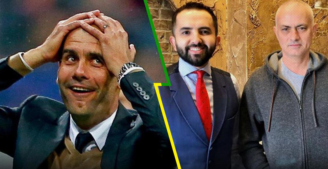 Mourinho le 'copió' el look a Pep Guardiola y le llenaron la cabeza de memes