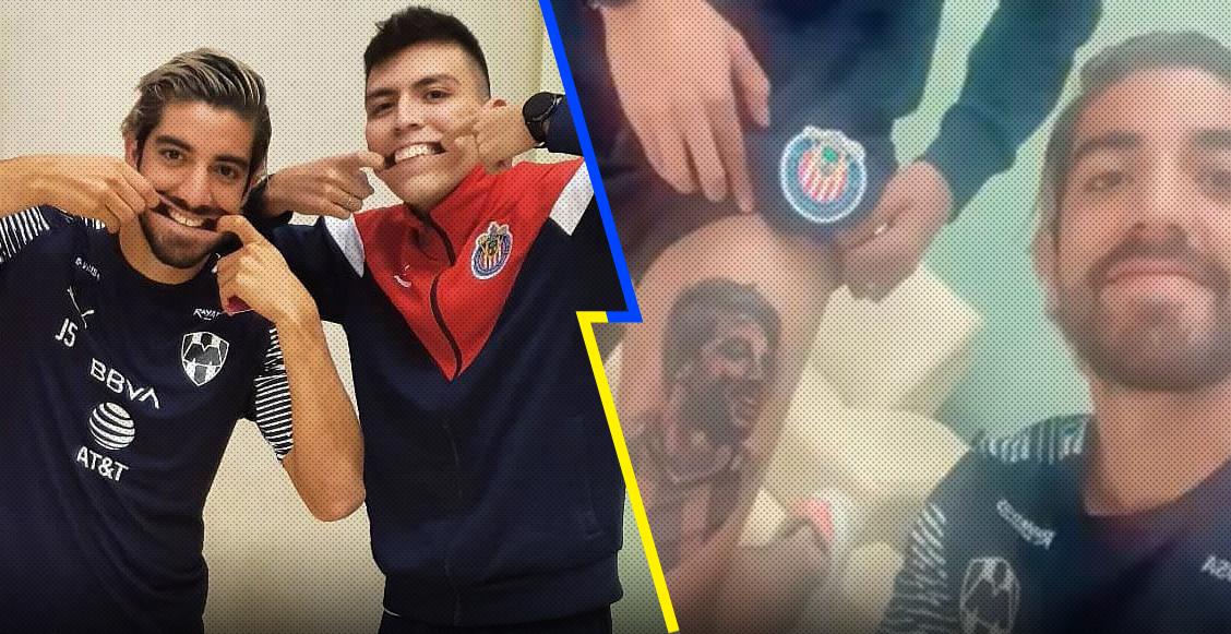 ¡Crack! Rodolfo Pizarro conoció al fan que se tatuó su rostro en la pierna