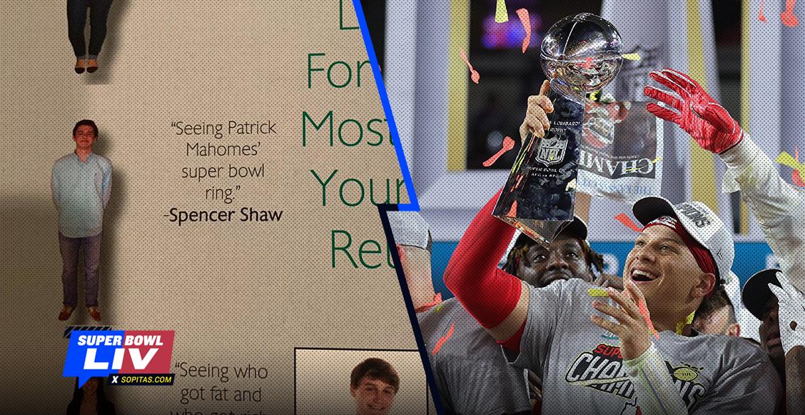 Un hombre predijo un anillo de Super Bowl para Patrick Mahomes desde la secundaria