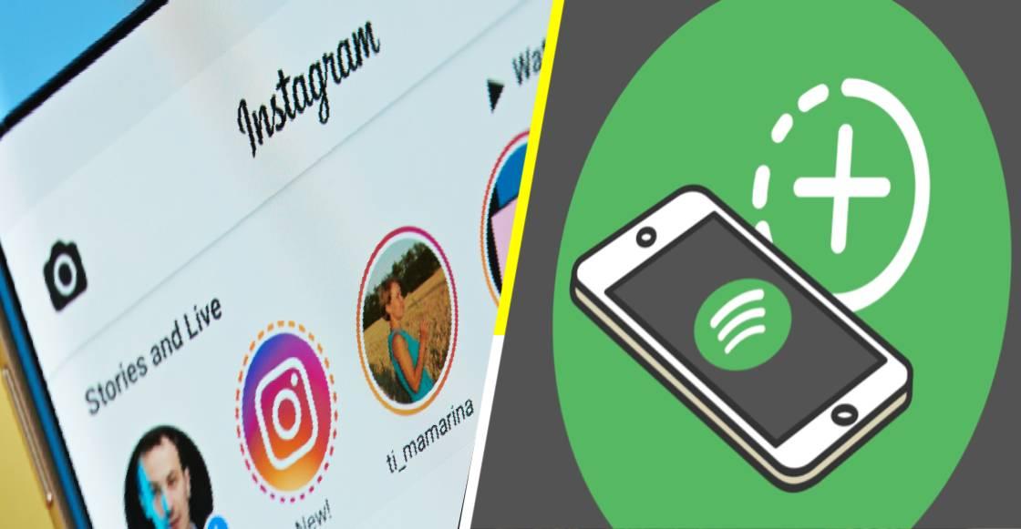 Instagram da la bienvenida a Spotify Stories