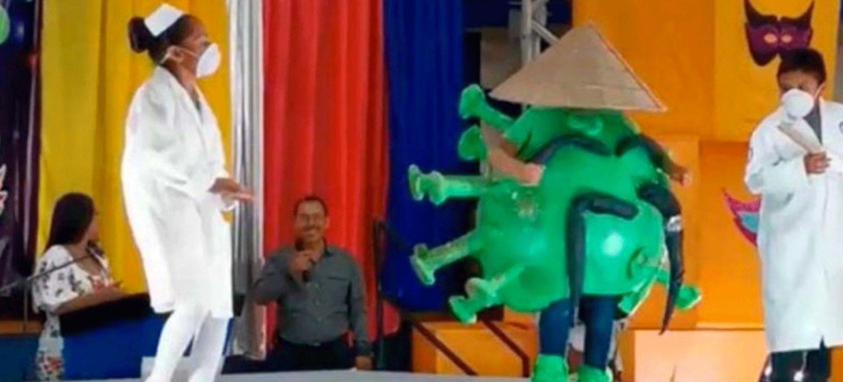 Mi México: Un niño se disfrazó de coronavirus para un carnaval de Tamaulipas