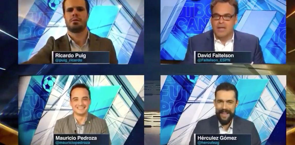 Ah caray: El penoso momento de Ricardo Puig en Futbol Picante haciendo home office