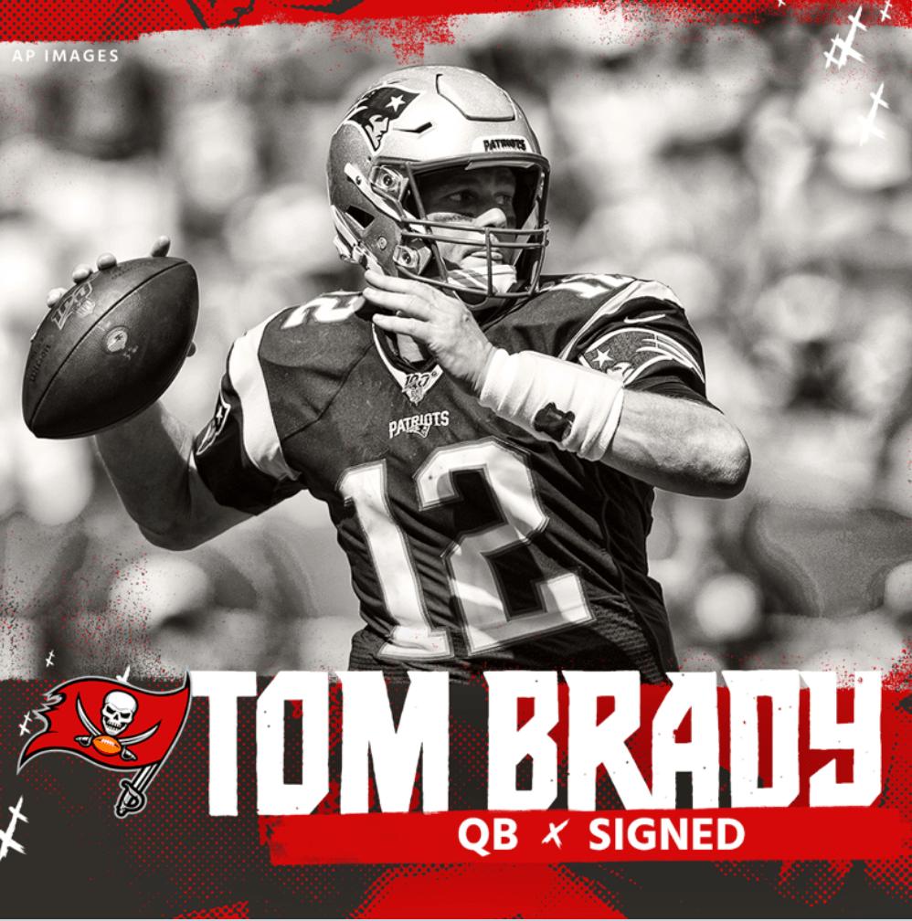 Lo que era un secreto a voces, por sin se hizo oficial. Tom Brady se convirtió en el nuevo quarterback de los Tampa Bay Buccaneers.