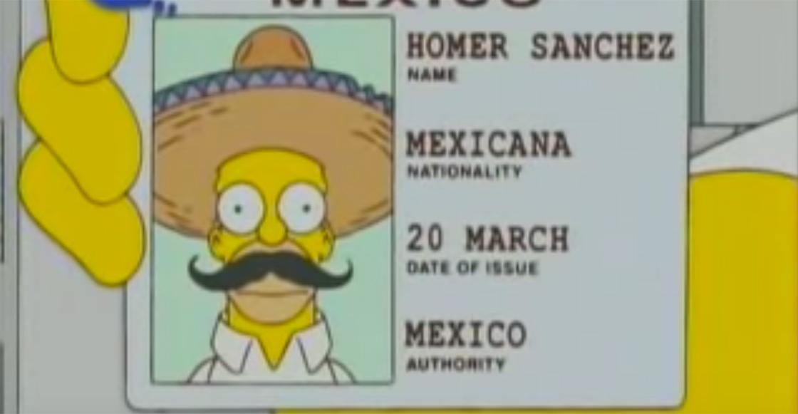 ¡Sánchez! Homero Simpson se convirtió en mexicano un 20 de marzo