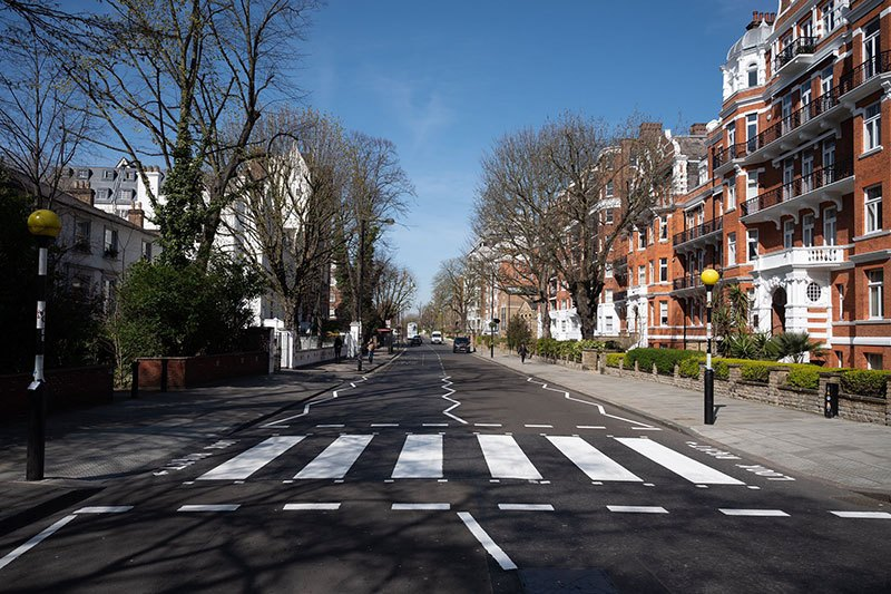 Gracias al confinamiento lograron pintar el crucero de Abbey Road