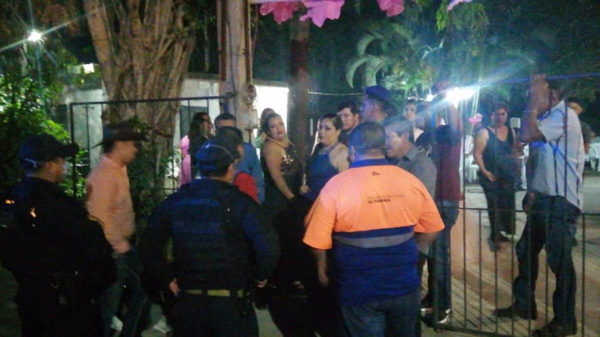 Arman fiesta de XV años en plena cuarentena; policía de Tamaulipas tuvo que intervenir