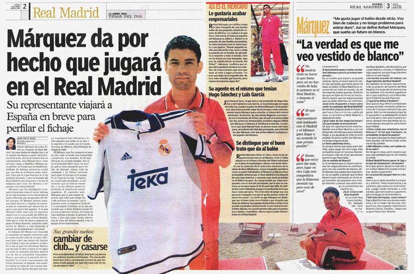 El día que Ronaldo impidió que Rafa Márquez llegara al Real Madrid