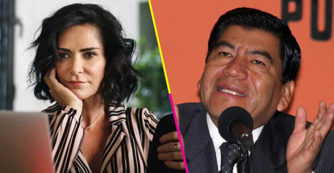 Mario Marin y Lydia Cacho