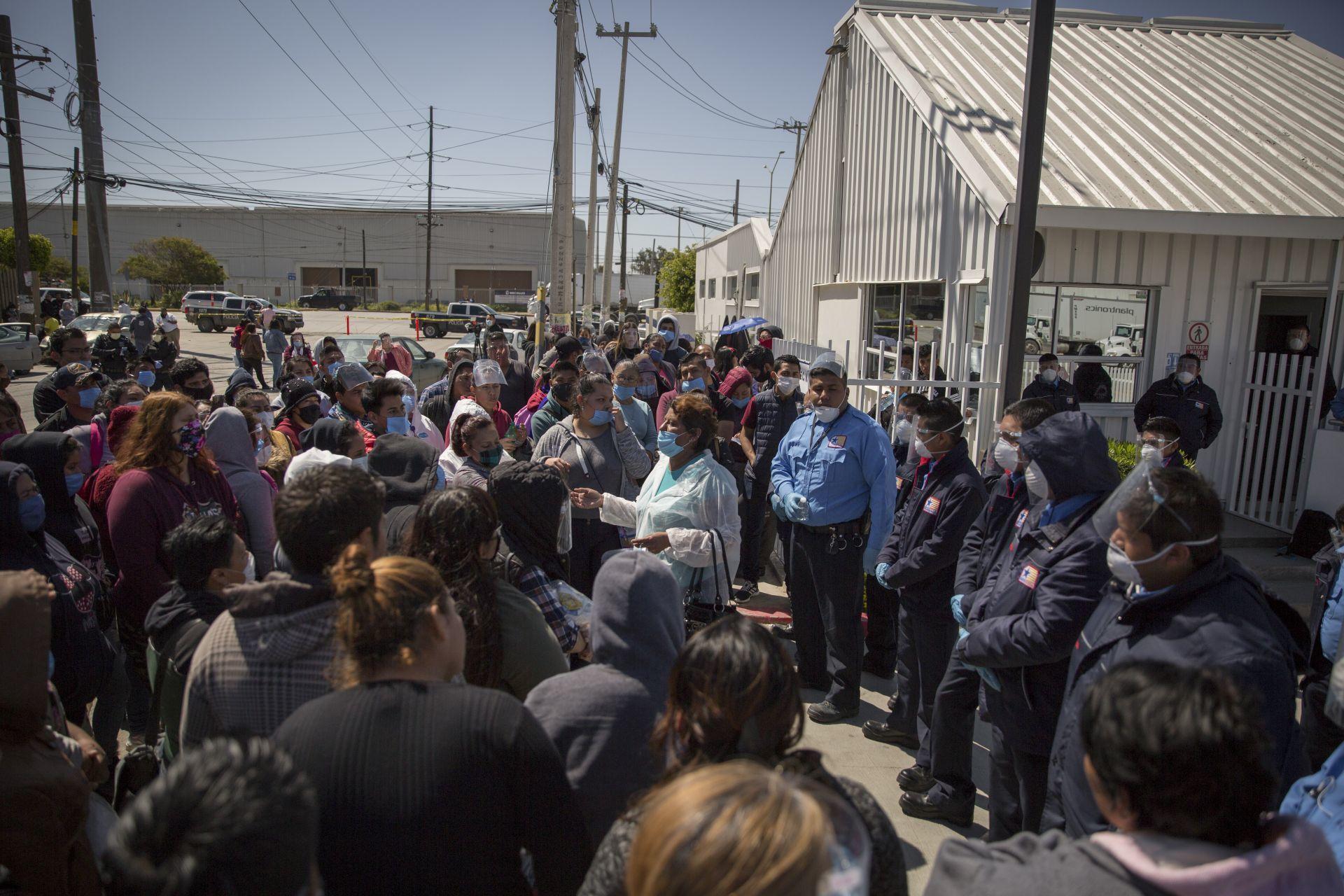 protesta maquiladora de Baja California