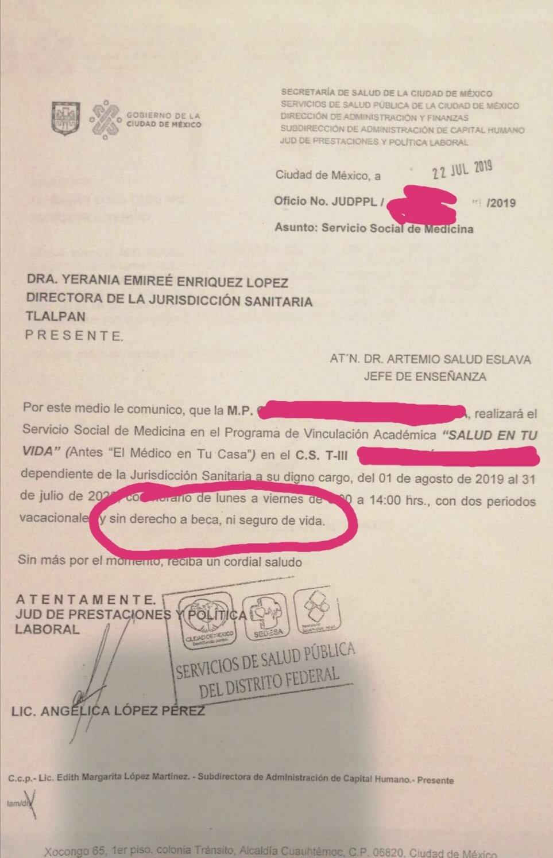 oficio-casa-coronavirus-pasantes-cdmx