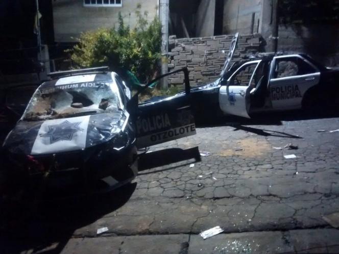 Destruyen patrullas en San Mateo Capulhuac por audio falso sobre 'fumigación de coronavirus'