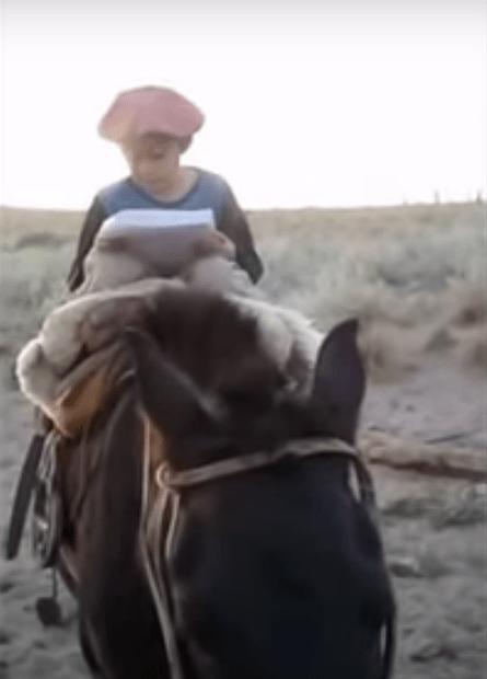 Niño de siete años sube un cerro a caballo para conseguir internet y enviar su tarea