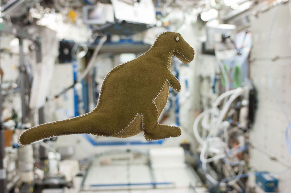 Un Dinosaurio estacion espacial interncional
