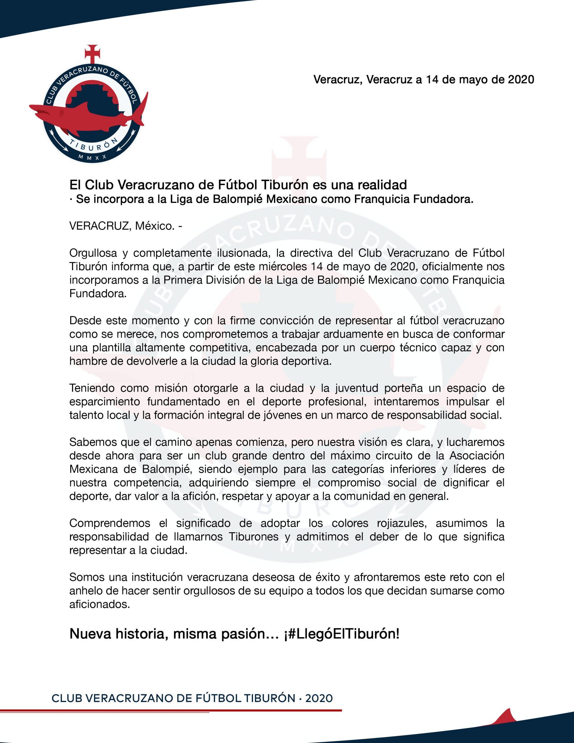 """""""Mami que tu quiereee"""": Veracruz tiene oficialmente equipo en la Liga de Balompié Mexicano"""