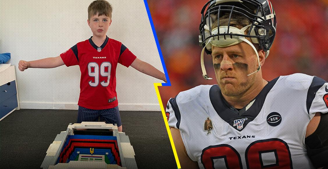 La historia de Archie, el niño que construyó el estadio de los Texans con bloques lego y 'conquistó' a J.J. Watt