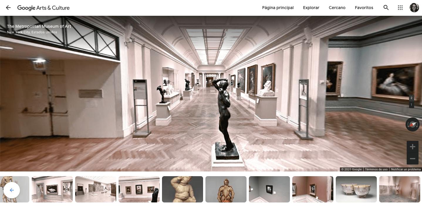 MET Metropolitan Musueum Nueva Yortk tour virtual google culture and arts 01