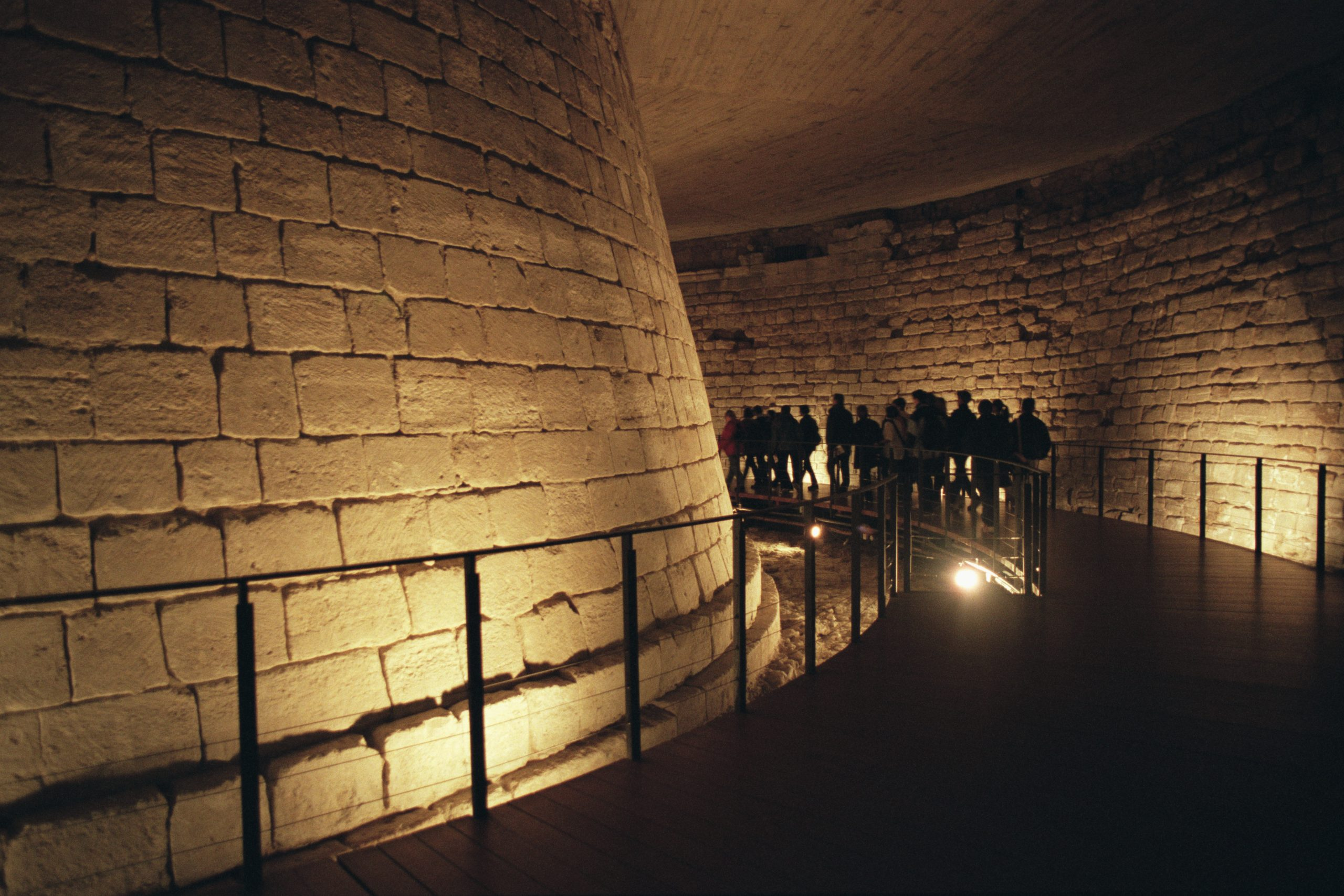 (Original Caption) The Medieval Louvre: The dungeon moat. (Photo by Bernard Annebicque/Sygma/Sygma via Getty Images)