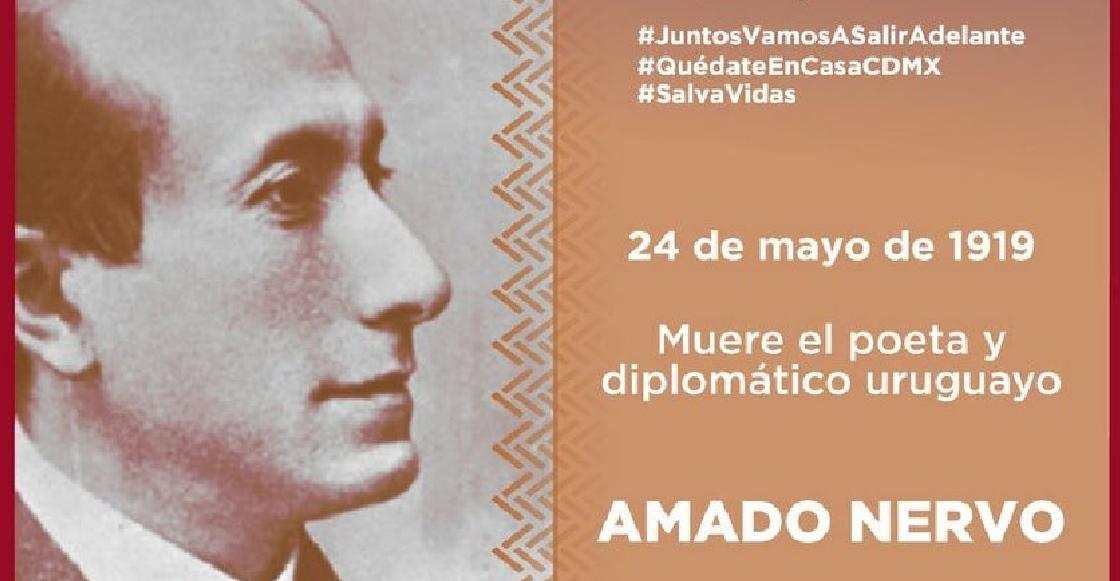 Secretaría de Cultura de la CDMX cambia nacionalidad de Amado Nervo;