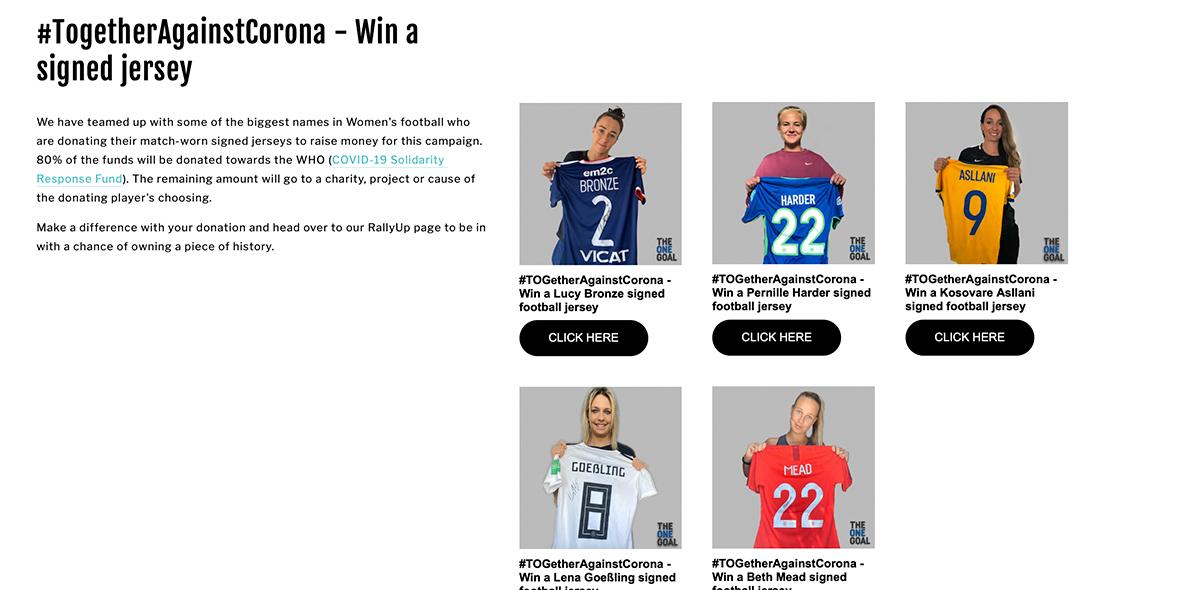 #TogetherAgainstCorona: La iniciativa de mujeres futbolistas para ayudar a la OMS contra el coronavirus