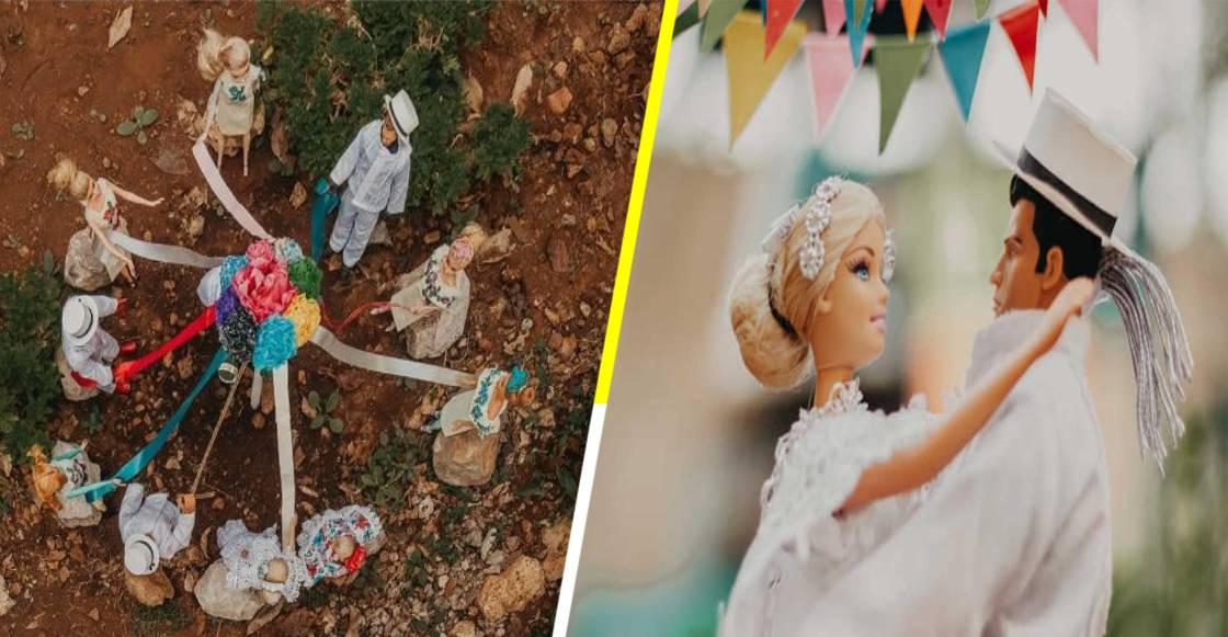 ¡Bomba! Barbie y Action Man se casaron en Yucatán