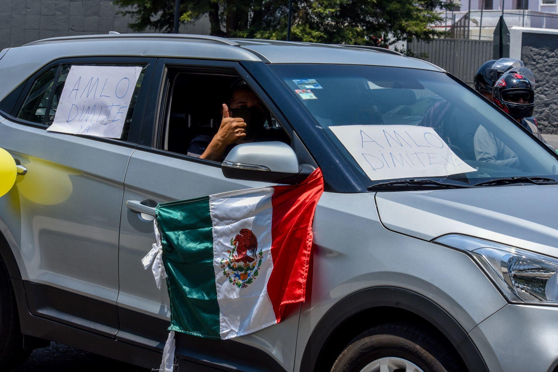Caravanas convocadas por el Frente Anti AMLO protestan en distintas ciudades del país