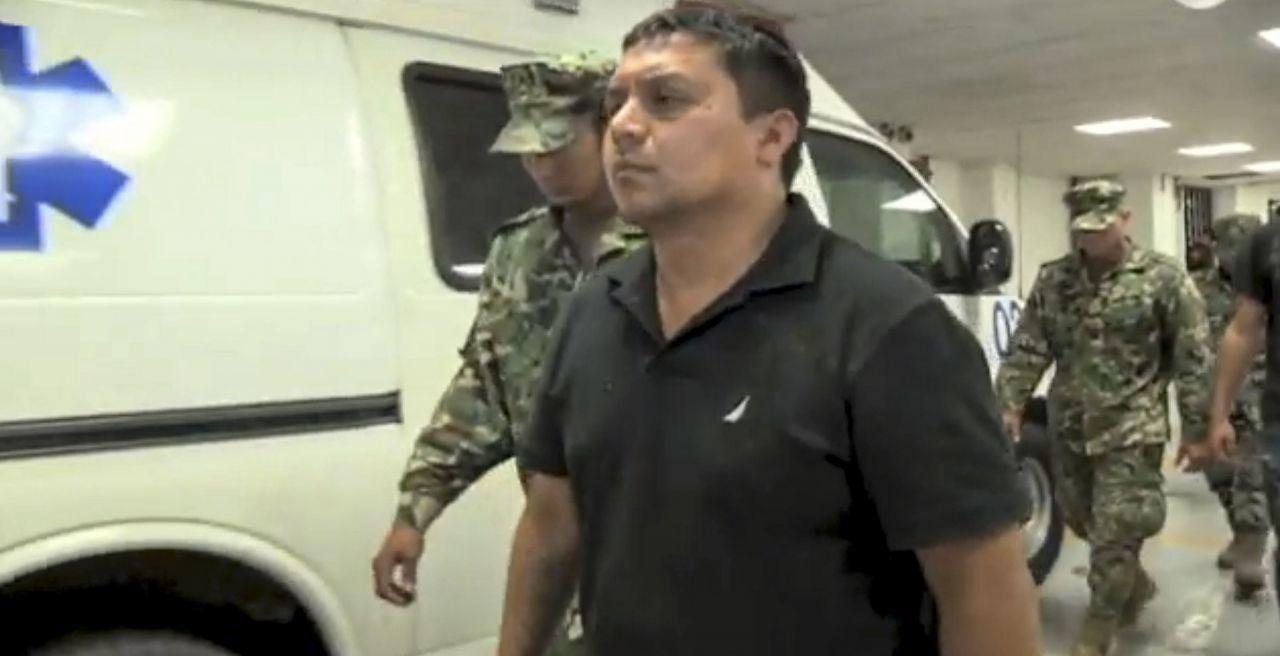 Miguel Ángel Treviño , 'El Z-40', máximo líder de la organización criminal los Zetas, durante su llegada a la SEIDO