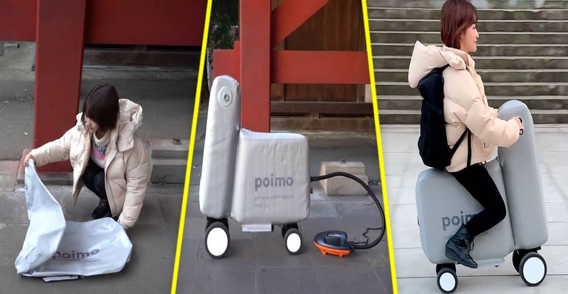 ¿Miedo de contagiarte en el trasporte? La bicicleta eléctrica e inflable de 'Poimo', puede ser la solución