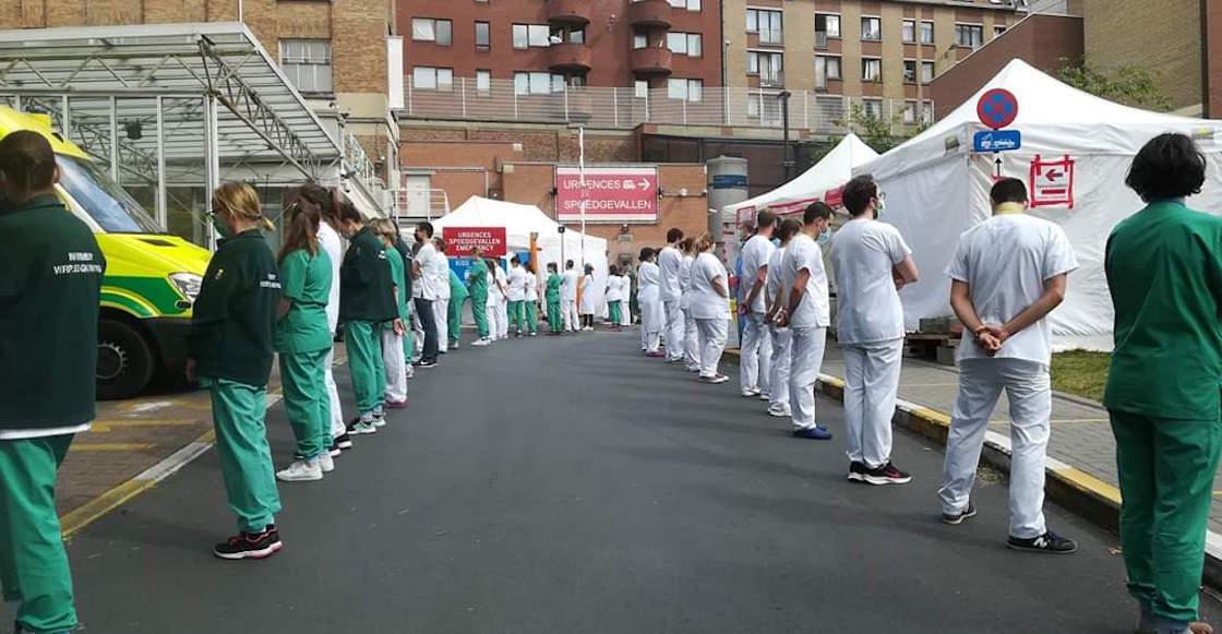 protesta-belgica-medicos-doctores-primer-ministo-video-espalda-coche-hospital-destacada