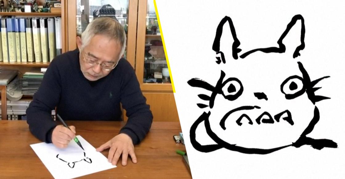 Productor y fundador de Studio Ghibli enseña en un tutorial cómo dibujar a Totoro