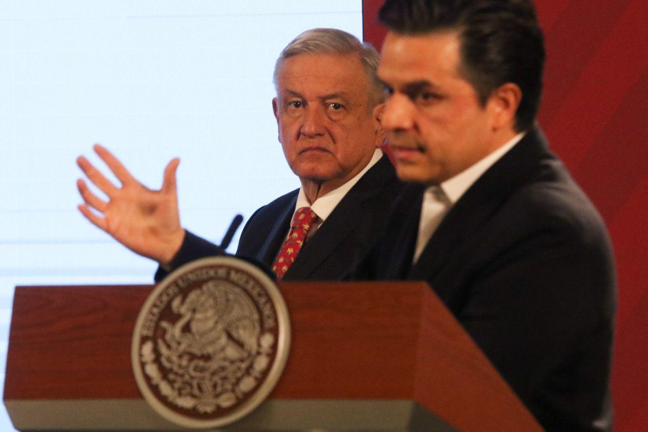 CIUDAD DE MÉXICO, 26MAYO2020.- Andrés Manuel López Obrador, Presidente de México, al inicio de la conferencia matutina en Palacio Nacional.