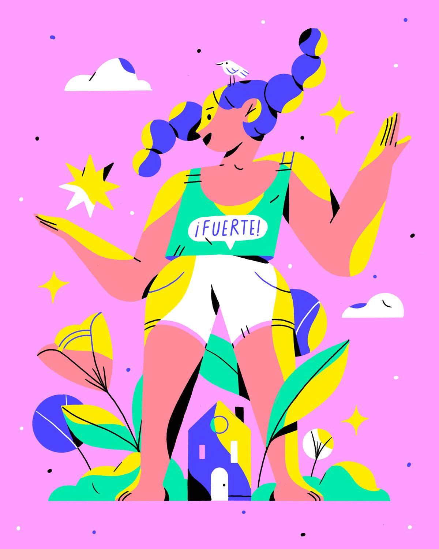 """""""Eres mucho más fuerte de lo que crees"""". - de Martha Debayle, ilustrado por Chabansky"""