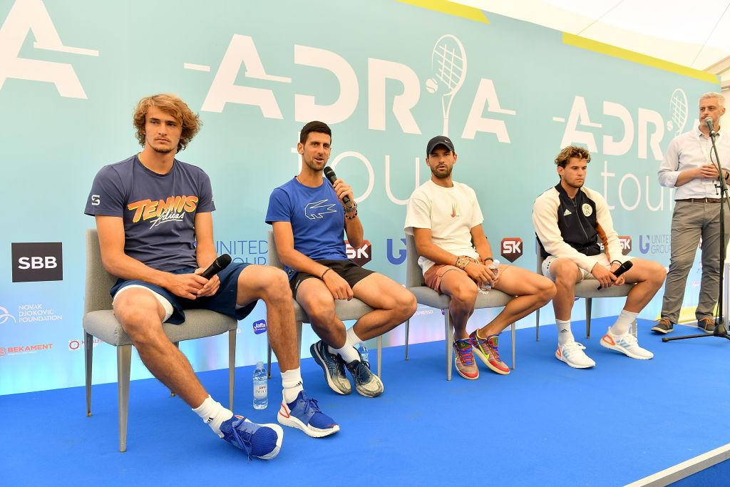 Dimitrov da positivo por coronavirus y Djokovic es sospechoso de contagio justo a Zverev