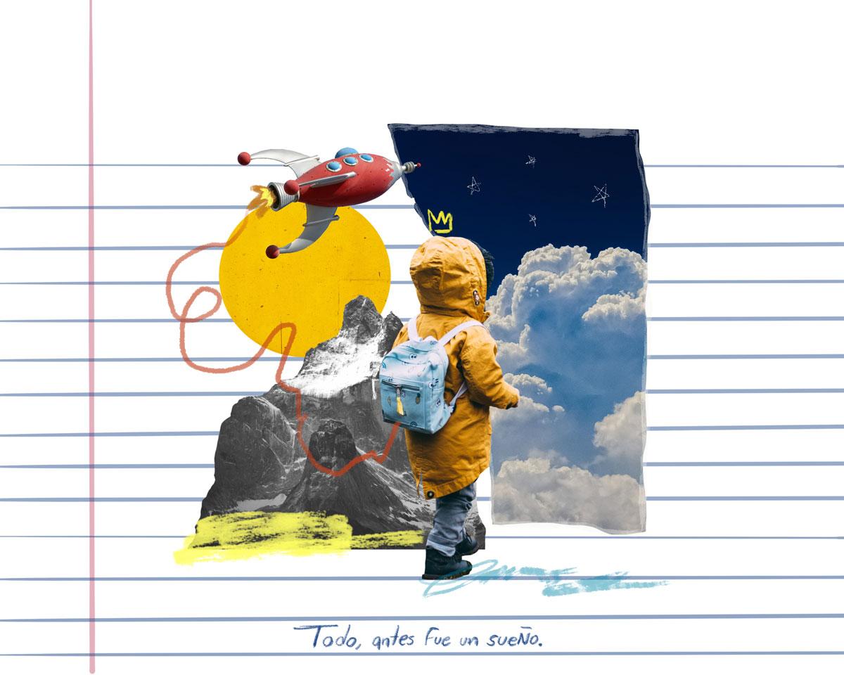 """Todo lo tangible antes fue un sueño"""". - de Alan Estrada, ilustrado por Prince Lauder"""