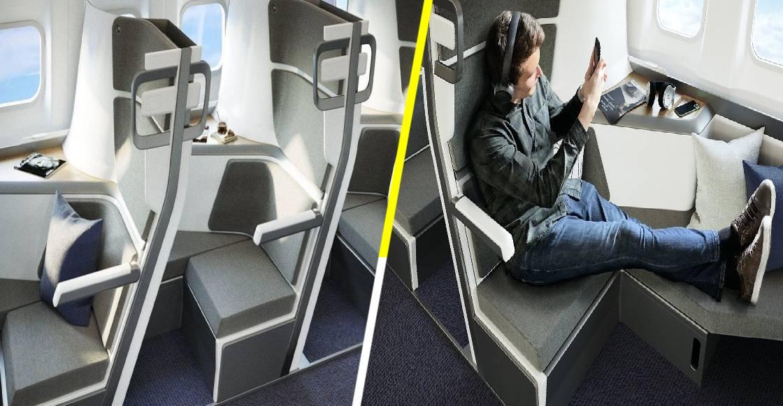 Así podrían ser los asientos de avión en clase económica durante la nueva normalidad