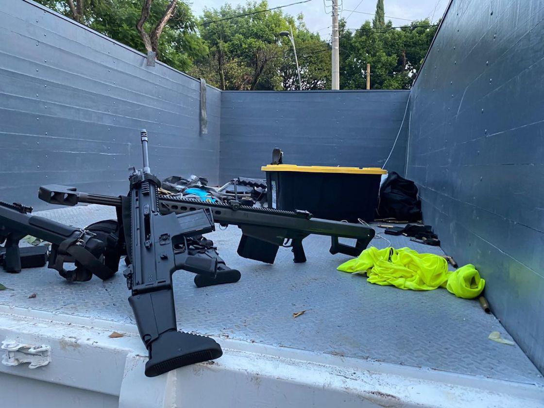 Un fusil Barret .50 fue utilizado en el atentado-omar-garcia-harfuch-lomas-de-chapultepec