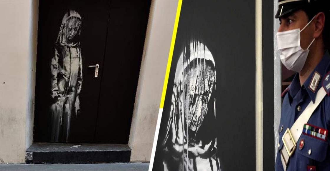 Hallan en Italia la obra robada de Banksy, dedicada a las víctimas del Bataclan
