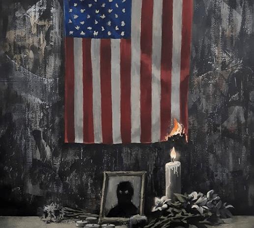"""""""El sistema le falla a las personas de color"""": Banksy se une al #BlackLivesMatter con pintura en honor a George Floyd"""