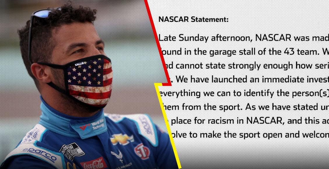 La enérgica reacción de NASCAR al acto de racismo contra de 'Bubba' Wallace
