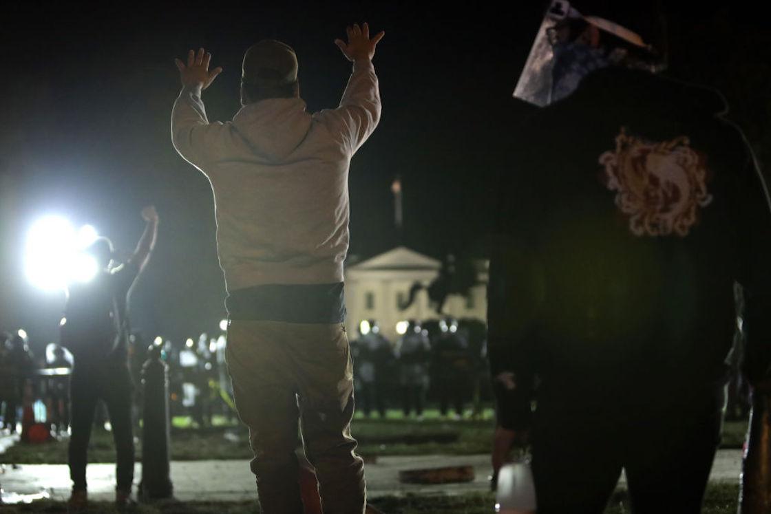 manifestación-casa-blanca-trump-george-floyd
