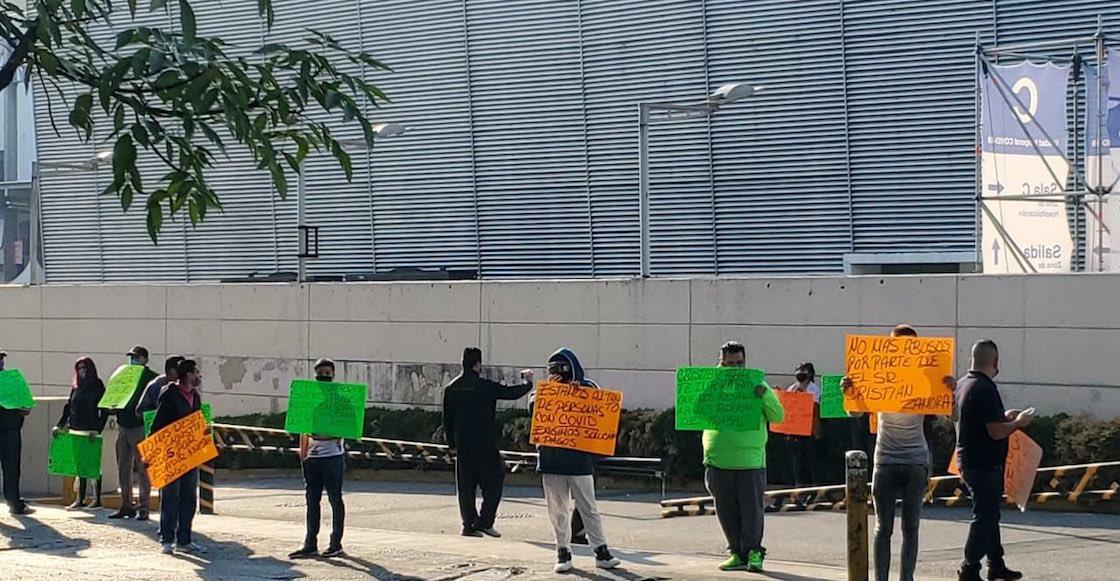 manifestacion-trabajadores-camilleros-centro-citibanamex