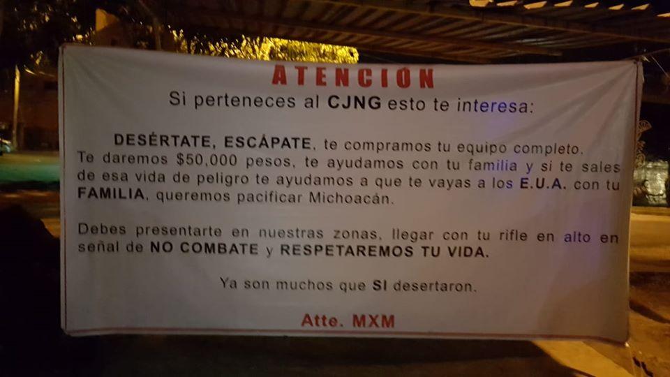 narco-manta-cjng-michoacán
