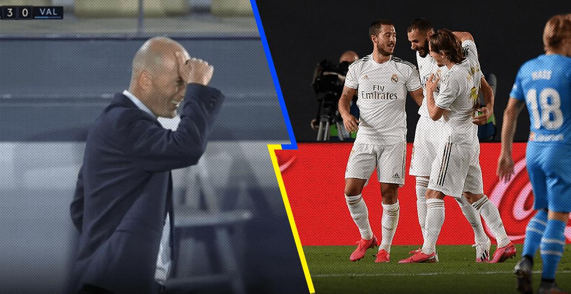 La reacción de Zidane tras el golazo de Benzema, quien superó a Puskás con una definición para el Puskás