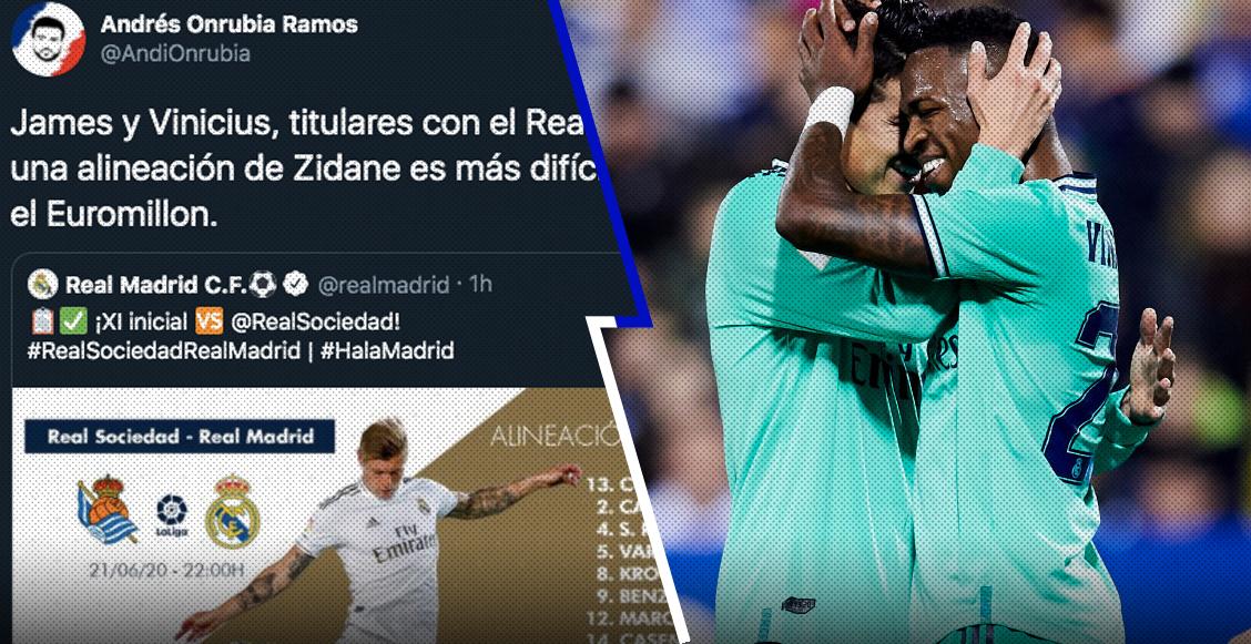 """""""¡Por fin, Zidane!"""": Las reacciones por la titularidad de James y Vinicius Jr"""