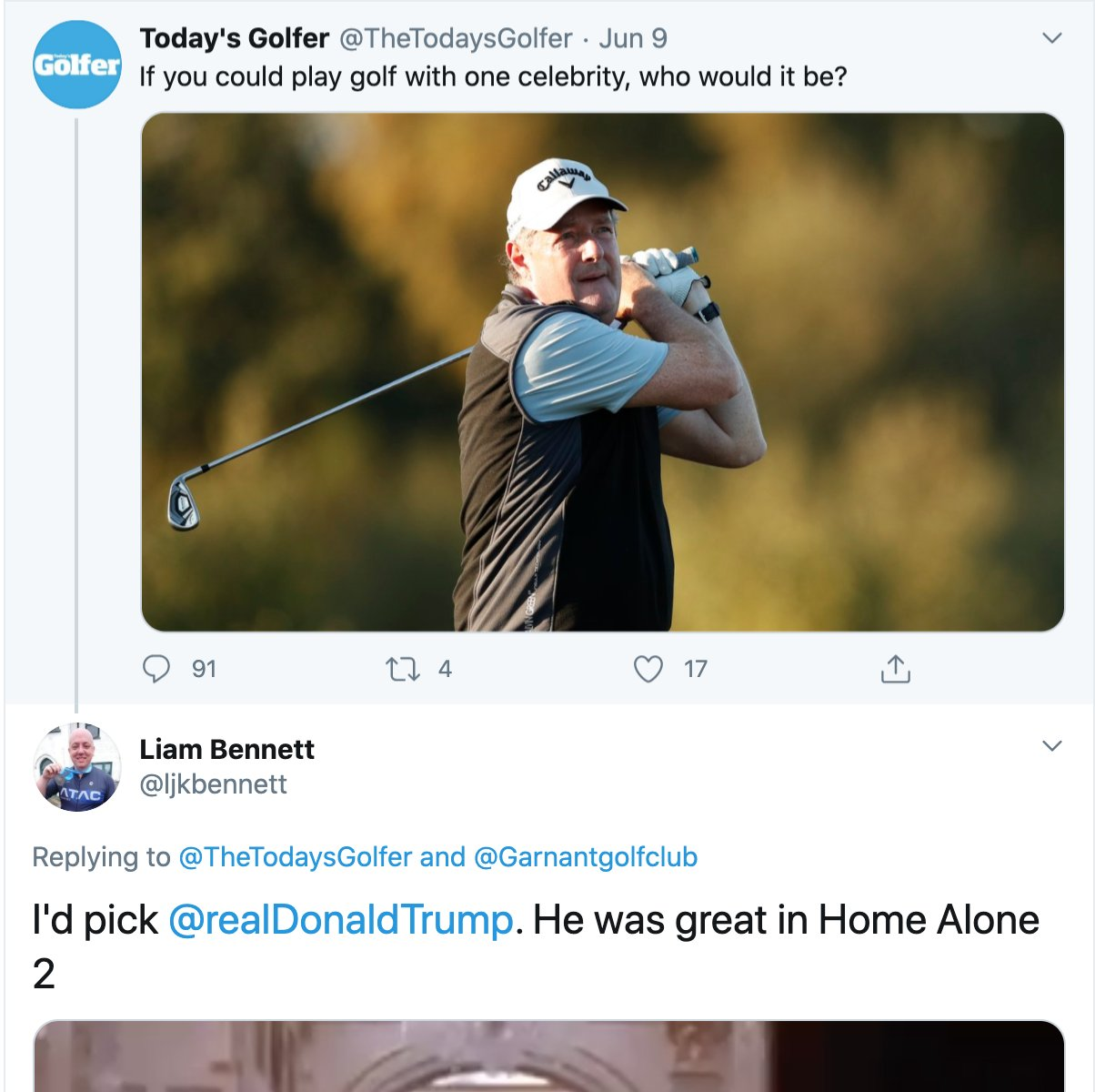 Entertainment : Trump invites a man to play golf, blocks ...