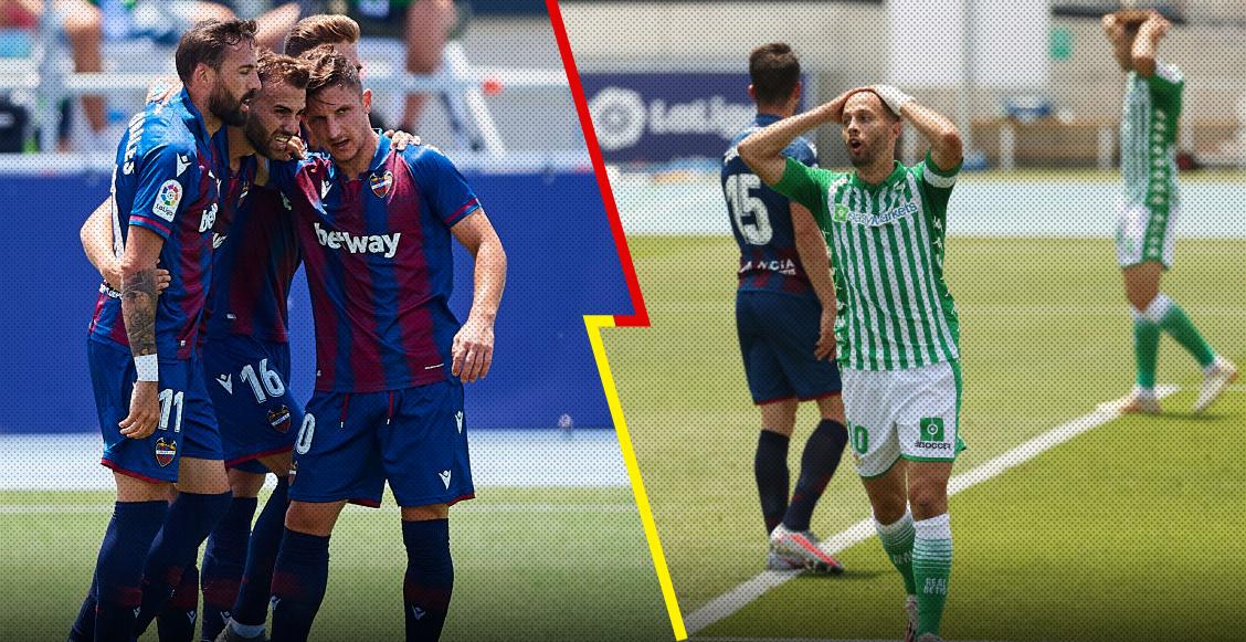 Lainez y Guardado entraron de cambio pero Betis no pudo evitar la goleada ante el Levante