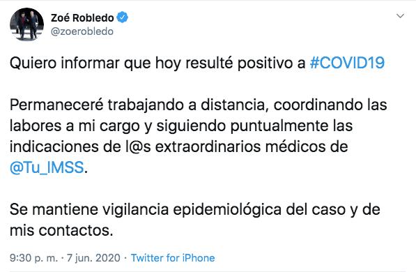 zoe-robledo-coronavirus-positivo-twitter-imss-mensaje-amlo-01