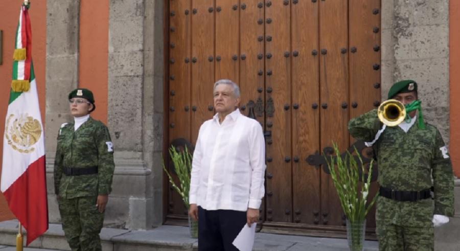 AMLO homenaje en Palacio Nacional